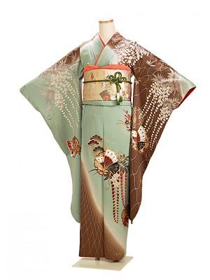 振袖 成人式 茶・グリーン 0183