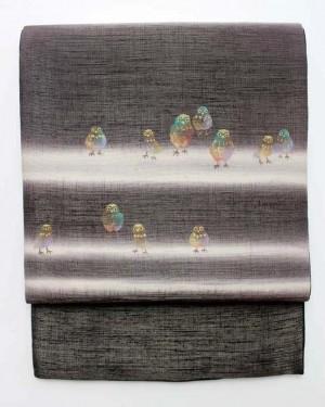 片岡鶴太郎デザイン洒落袋帯0012