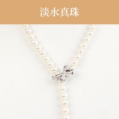淡水真珠(7.5-9mm) ラリエット NE 041