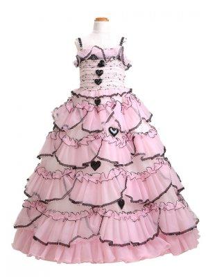 子供ドレス 7~9才 ピンク ノースリーブ P7439