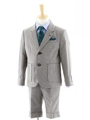 [男児スーツ]半ズボン/千鳥格子スーツ/0069/100㎝~
