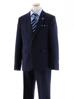 [男児スーツ]長ズボン ピンストライプ ネイビースーツ 0067 150㎝~