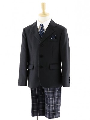 男児 3つボタンジャケットスーツ チェックパンツ 0061 100㎝~