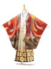 七五三(5男袴)5129 花わらべ 赤 鳳凰の舞