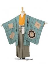 753レンタル(5歳男袴)05111モダンアンテナグリーン×