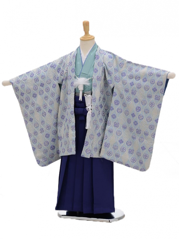 七五三レンタル(5男袴)5104ひさかたろまん水色に