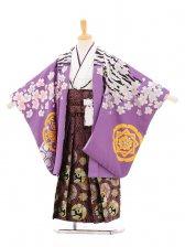 753レンタル(5歳男袴)5118 花わらべ 虎に桜