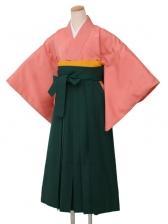 卒業袴レンタル 4303オレンジ雲型