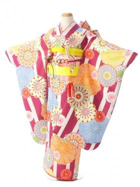 七五三(7歳女)7942 花わらべ 紫地
