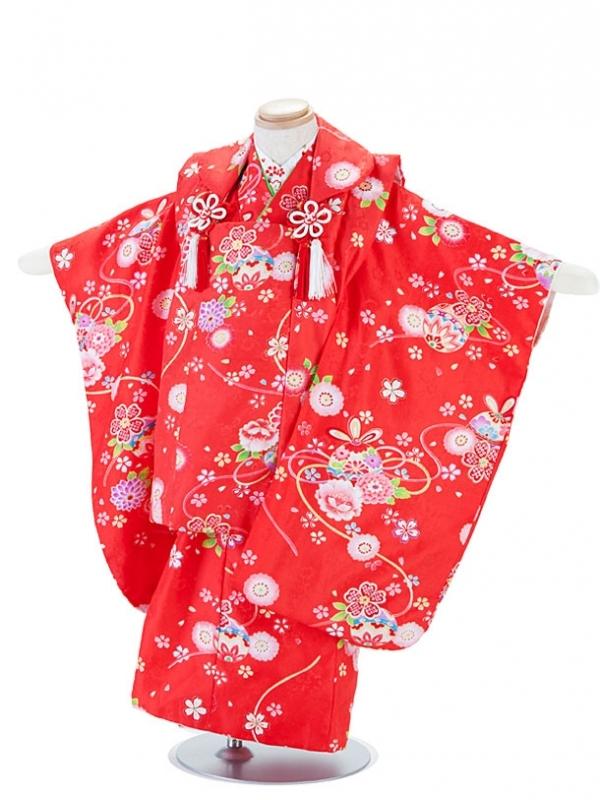 七五三(3女)T329赤・毬と小花