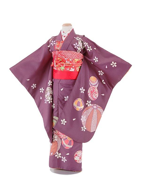七五三(7女)T724紫・毬と花びら