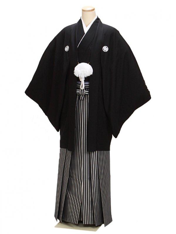 高級黒紋付 3L 正絹 大きい 新郎 結婚式