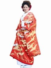 色打掛レンタル112川島織物 光琳鶴