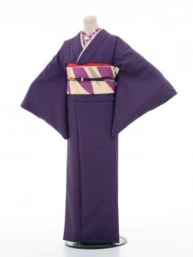 【コーデ】色無地レンタル ADD0017 紫色