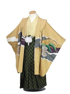 七五三(5才男袴)茶色、松、ワシ、松③(袴白模様)