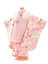 七五三(3歳女被布)D035 Seiko ピンクバラ