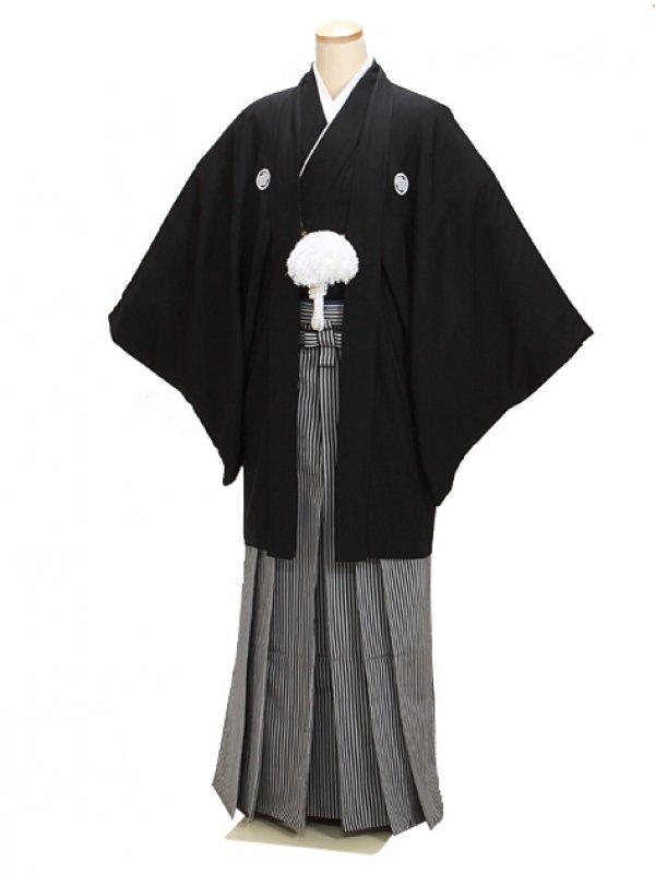 高級黒紋付羽織袴 Mサイズ 正絹 父 結婚式