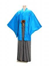 男紋付袴 卒業式 成人式 ブルー Lサイズ