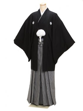 高級黒紋付羽織袴 Sサイズ 正絹 父 結婚式