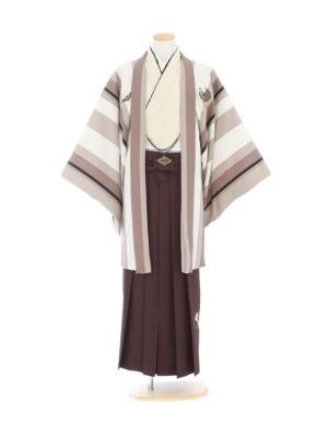 紋付袴306/ベージュ/茶