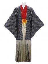 紋付袴320/黒市松/金ぼかし