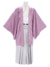 紋付袴287/紫/紫ストライプ