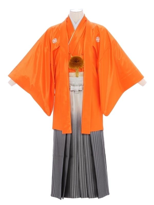 紋付袴223/オレンジ