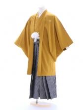 紋付袴145/からし/黒グレー/プリズム