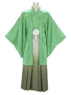 紋付袴272/薄グリーン/グリーンぼかし