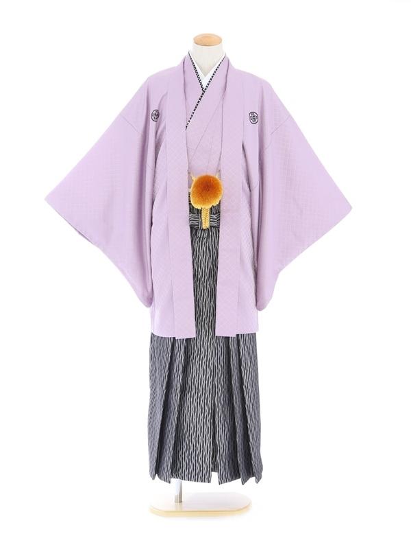 紋付袴175/紫/黒グレープリズム