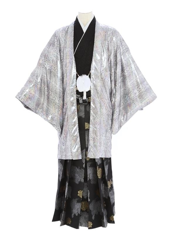 紋付袴310/シルバーヘビ柄