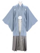 紋付袴230/グレー/金線ぼかし