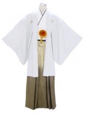 紋付袴328/シルバー/黒金線ぼかし