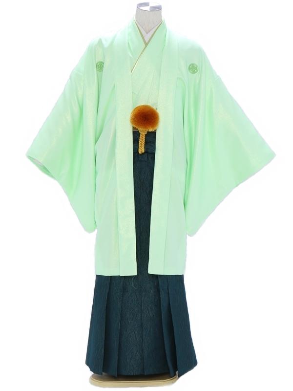 紋付袴302/ラメグリーン/モスグリーン