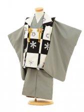 七五三レンタル(3才男の子/被布)3061/緑系