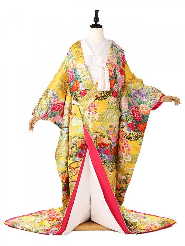 色打掛森英恵四季の花黄色3107