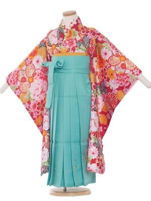女児袴(5女)1001 赤/花盛り 袴