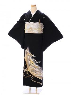 黒留袖8A468 変り菊 金刺繍
