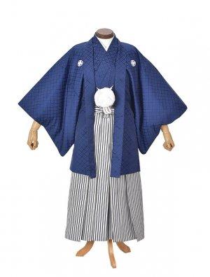 男性用袴・成人式・紺紋服ラメ 4号