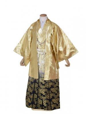 男性用袴・成人式・卒業式・ゴールド亀甲袴紋服
