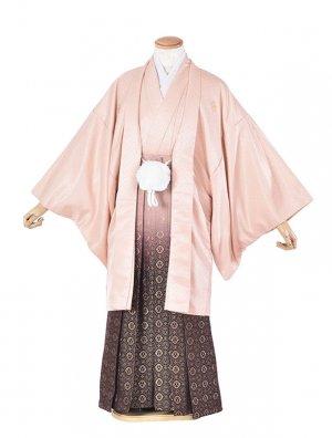 男性用袴・成人式・ピンク紋服/裃