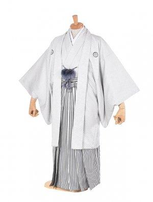 男性用袴・成人式・卒業式・白刺子紋服