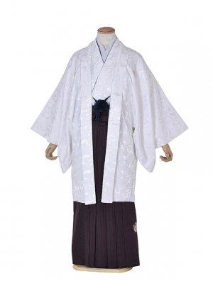 男性用袴・成人式・卒業式・白光沢ジャパンスタイル袴