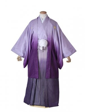 男性用袴・成人式・ムラサキボカシ/紫ボカシ