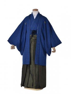 男性用袴・成人式・卒業式・青金紋紋服