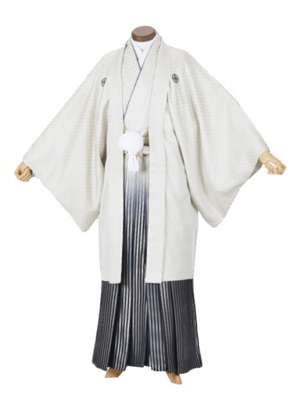 男性用袴・成人式・白刺子7号