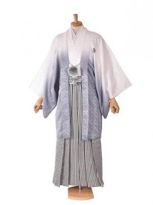 男性用袴・成人式・白グレーボカシ7号