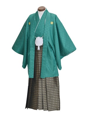 男性用袴・成人式・深緑
