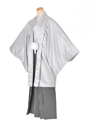 男性用袴・成人式・卒業式・うすグレー紋服