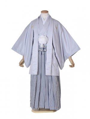 男性用袴・成人式・卒業式・グレー紋服